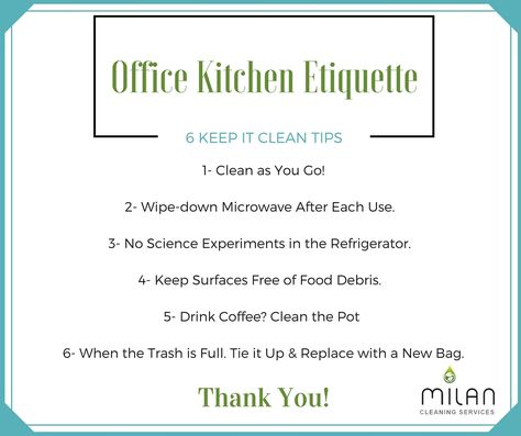 Clean Office Kitchen Office Kitchen Etiquette 6 Keep It