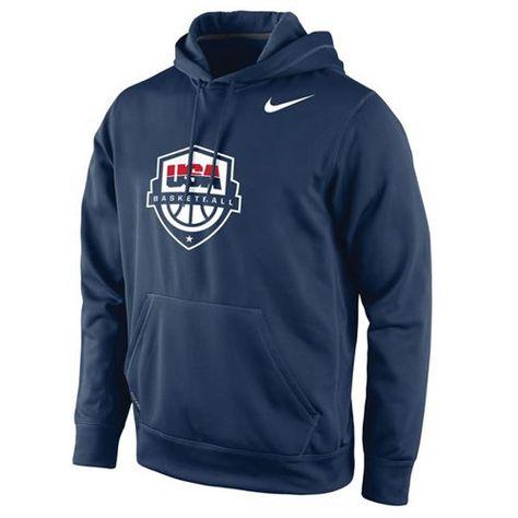 80f6eeb06f27 Team USA Basketball Nike Logo Pullover Hoodie Navy