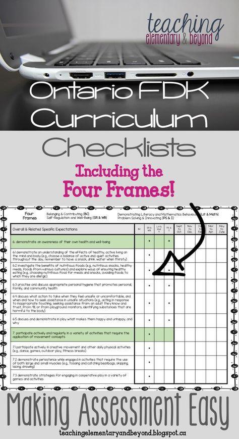 Attention Ontario Fdk Kindergarten Teachers New Assessment And