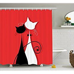 Cat Shower Curtains Cat Shower Curtain Bathroom Decor Sets