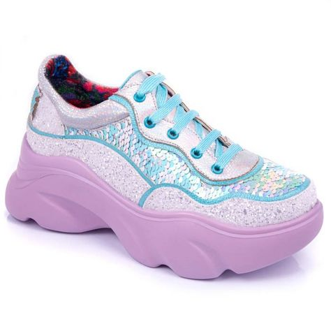 Hot Pink Sparkle Black Blue Green Stripe Sequin Kids Sport Zip Sneaker Shoes A-6