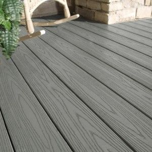 Plastic Decking Prices >> Slate Gray Azek Pvc Decking Plastic Decking Building A