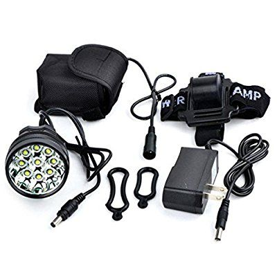 9T6 Head Lamp LM 9X XM-L T6LED Rechargeable Headlamp Headlight Travel Head Torch