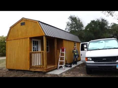 Living Off Grid In A Tiny Shed First Look Shed Homes Shed