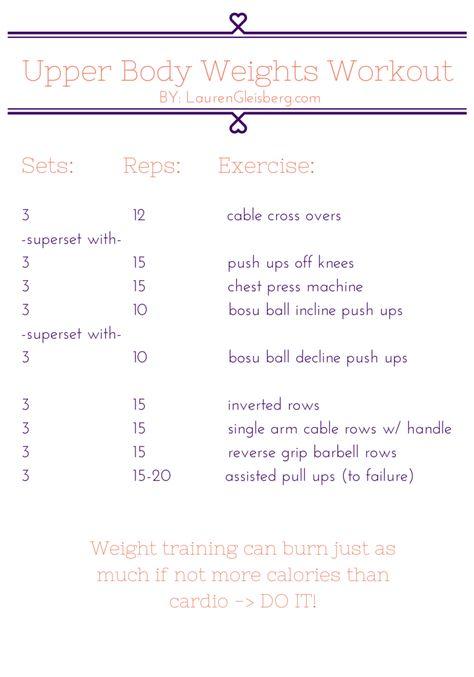 Upper Body Weights Workout   LaurenGleisberg.com