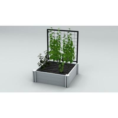 Vita Garden Classic 36 In X 36 In White Vinyl Raised Garden Bed