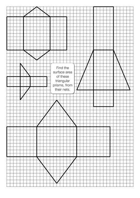 Pin On Kids School Help Tools Surface area of prism worksheets
