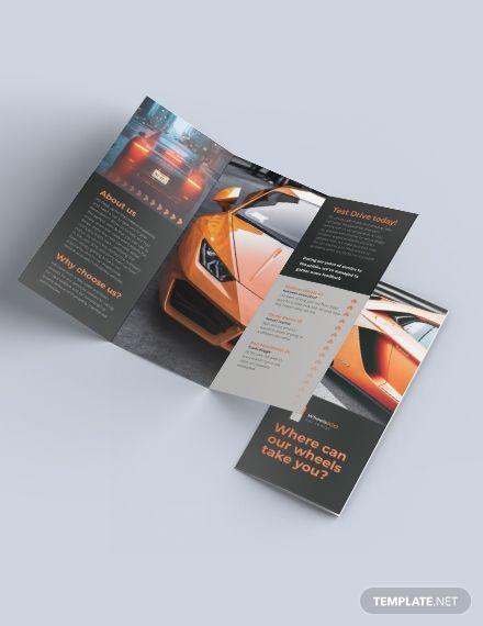 Car Rental Tri Fold Brochure Template Word Psd Indesign Apple Pages Illustrator Publisher Trifold Brochure Trifold Brochure Template Brochure