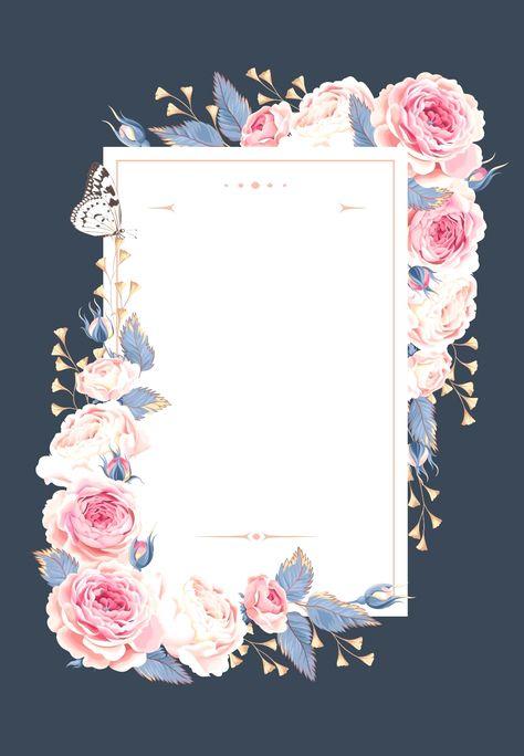 Climbing Roses - Wedding Invitation Template (no cost) Greetings Island