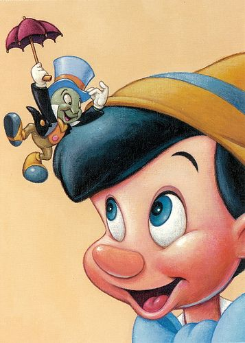 Although Pinocchio doesn't always want to hear what Jiminy Cricket has to say, the chipper little fellow is a steady, stalwart mentor when Pinocchio needs him most.