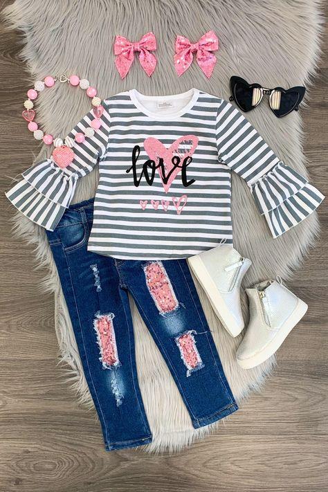 Tangerine Little Girls/' Contrast Stripe Dri-Fit Stretch Track Pants
