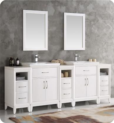 Cambridge Collection Fvn21 84wh 84 Double Sink Traditional Bathroom Vanity With 2 Mirr Traditional Bathroom Traditional Bathroom Vanity Modern Bathroom Vanity