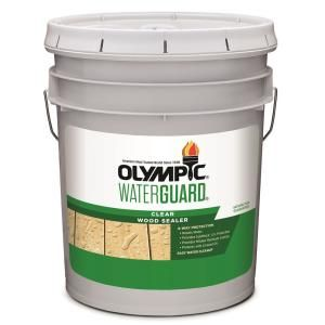 Olympic Waterguard 5 Gal Clear Wood Sealer 55260xi 05 Wood Sealer Wood Deck Stain Exterior Stain