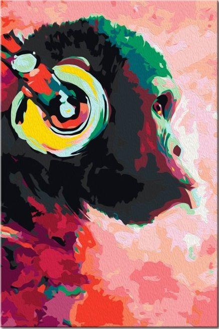 Wandbild Zum Malen Nach Zahlen Affe Mit Kopfhorer In 2020 Malen
