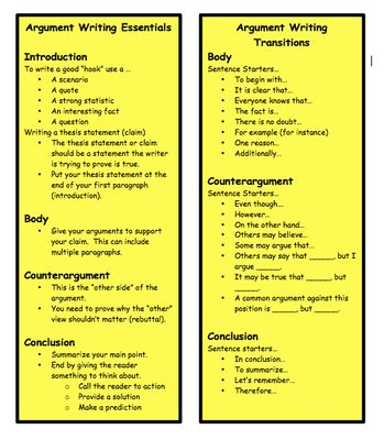 argument writing student guide common core grades students  argument writing student guide common core grades 6 12 students school and common cores