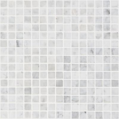 Ivy Hill Tile White Carrera Brick Joint 12 In X 12 In Polished Marble Mosaic Tile Marble Mosaic Tiles Stone Mosaic Wall Mosaic Wall Tiles