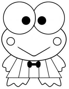 Keroppi Free Coloring Pages Coloring Pages Hello Kitty And