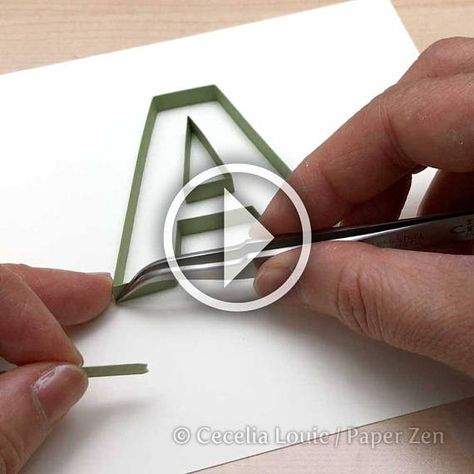 Quilling Letters 26 Patterns and Template Tutorial for