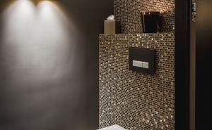 Frisch Kleines Bad Toilette Kleine Toilette Bodenfliesen Bad Badezimmer Mosaik