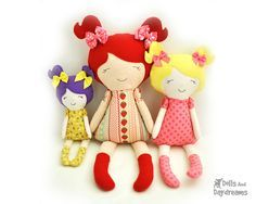 FREE TUTORIALS FOR SEWING DOLLS & SOFTIES (DOLLS AND DAYDREAMS) OMGOODNESS...THERE ARE SOOOO MANY TUT'S!!!