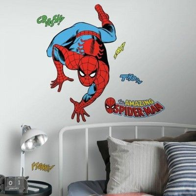 Bring The Magic Of Marvel Directly To Your Child S Bedroom Playroom And Bath With These Peel And Stick Marvel Spiderman Room Wall Decals Changing Wall Color