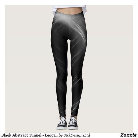 d45c59dfb6 Black Abstract Tunnel - Leggings   Leggings   Pinterest   Leggings ...