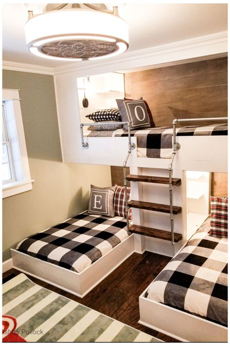 Bunk Beds Small Room, Bunk Beds Boys, Beds For Small Spaces, Bunk Bed Rooms, Bunk Beds Built In, Cool Bunk Beds, Small Room Bedroom, Kid Beds, Boys Bedroom Ideas With Bunk Beds