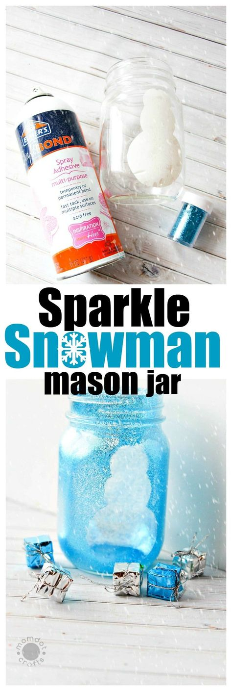 Snowman Mason Jar Crafts | Christmas Mason Jar Idea - - #christmas #Crafts #idea #jar #Mason #snowman
