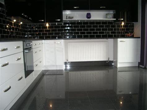 Recommended Black Kitchen Floor Tiles In 2020 Black Gloss Kitchen Black Kitchen Floor Tiles Kitchen Tiles
