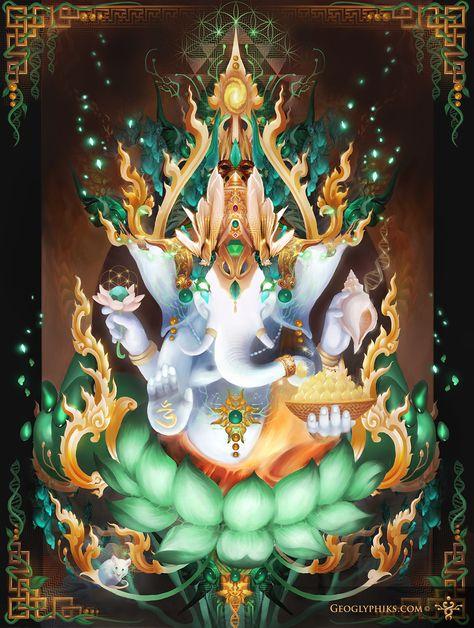 Dark Psychedelic Wallpapers Google Search Psy Art Ganesha Hinduismo Et Deus