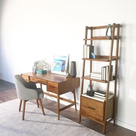 Mid-Century Bookshelf w/ Drawer