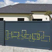 Claustra Alu Option Panneau Decoupe Laser Labyrinthe Gate Designs Modern Grill Door Design Steel Gate Design