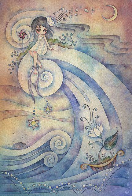 A la luz de la luna con viento hacia el norte camina sobre el agua pequeña princesa seas o no seas bella.