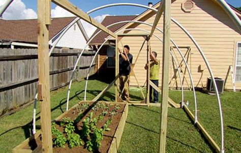 How To Build A High Tunnel Greenhouse Tunnel Greenhouse Cheap Landscaping Ideas Greenhouse Plans