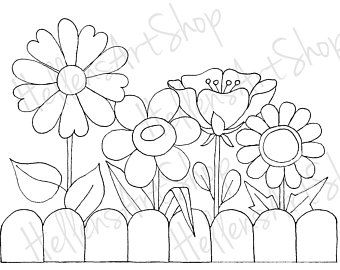 Big Flower Pot By Hellensart Etsy In 2020 Coloring Pages Flower Coloring Pages Drawings