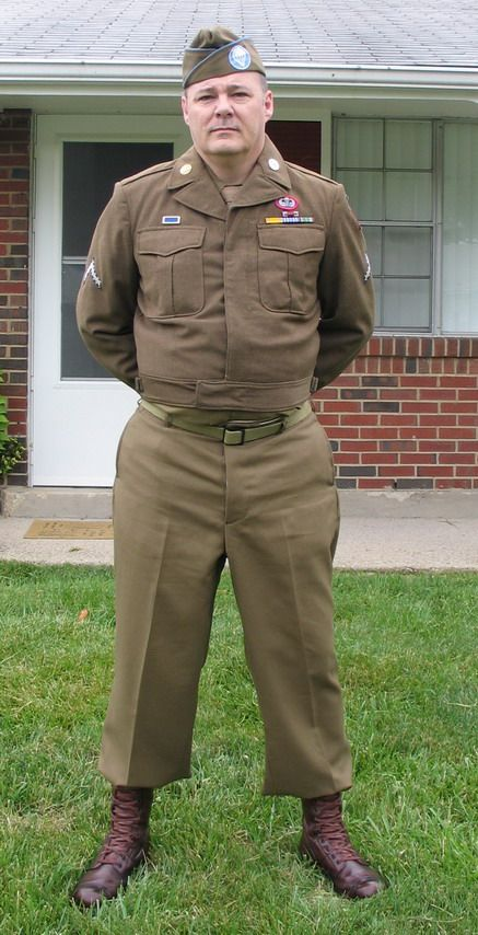 WWII 82nd ABN DIV, M1937 Wools and Eisenhower Jacket (M1944 Field Jacket).