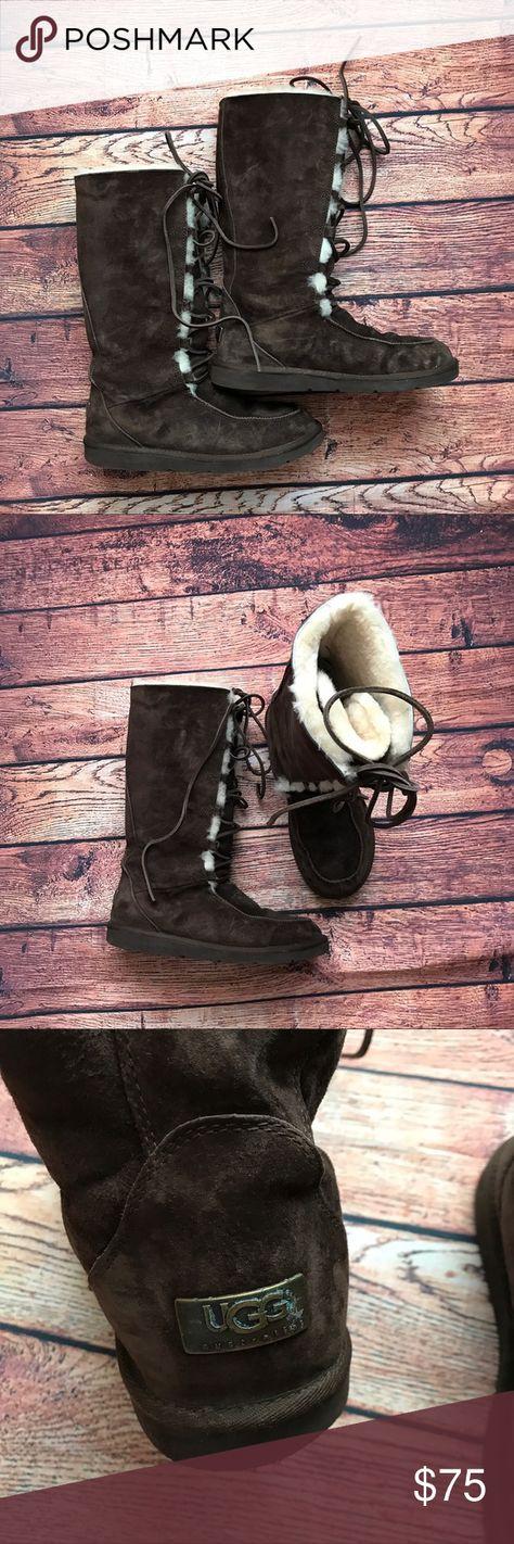 Ugg Appalachian Tall Brown Boots Sz 10 My Posh Picks Pinterest