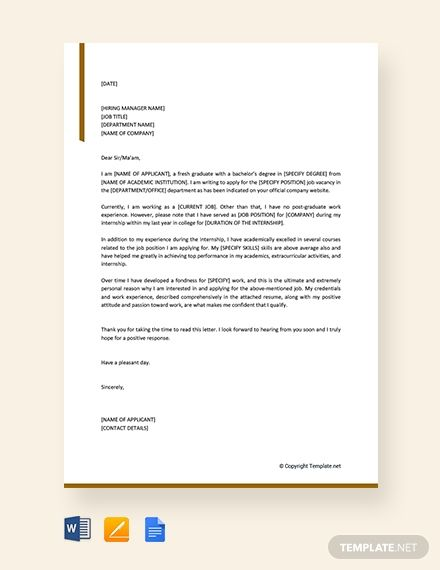 Simple Job Application Letter Template For Employment Free Pdf Word Doc Apple Mac Pages Google Docs Simple Job Application Letter Simple Application Letter Application Letter For Employment