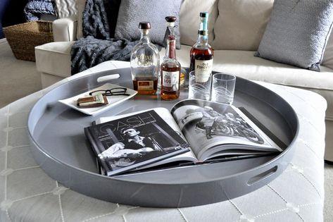 Wondrous Dark Gray In 2019 Large Ottoman Tray Large Round Ottoman Uwap Interior Chair Design Uwaporg