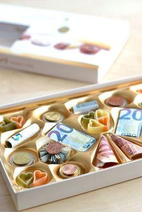 Verpacken originell geldgeschenke münzen Geldgeschenke originell