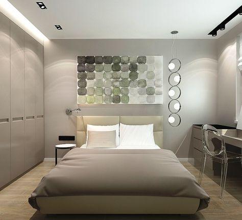 спальня в дизайне трехкомнатной квартиры в панельном доме Bedroom