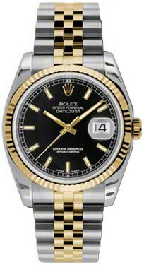Rolex Watches Collection For Men : Rolex Datejust 36 Yellow Gold & Steel Watch 116203 - Watches Topia - Watches: Best Lists, Trends & the Latest Styles