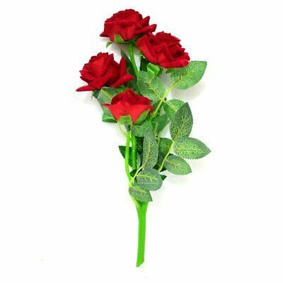 Beautiful Red Rose Flower Bunch Natural Looking Leaves 4 Flowers 12 Inch Fashio Beautiful Bunc Beautiful Red Roses Rose Flower Photos Rose Flower Pictures