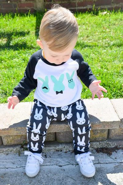 Don't forget the mustaches - Cute Easter Clothes for Kids on Etsy - Photos