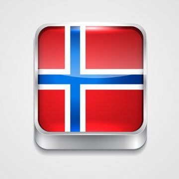 Flag Of Norway 3d Button Badge Png And Vector With Transparent Background For Free Download Transparent Background Badge Flag Background