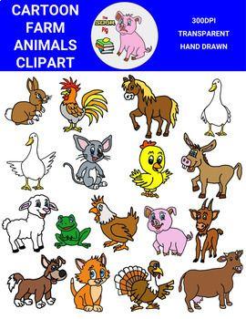 Cartoon Farm Animals Clipart Animal Clipart Farm Animals Rabbit Cartoon