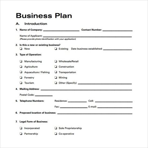 New Business Plan Template  Simple Guidance For You In New Business Plan Template - AH – STUDIO Blog