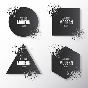 Download Broken Modern Banner Collection For Free Vector Free
