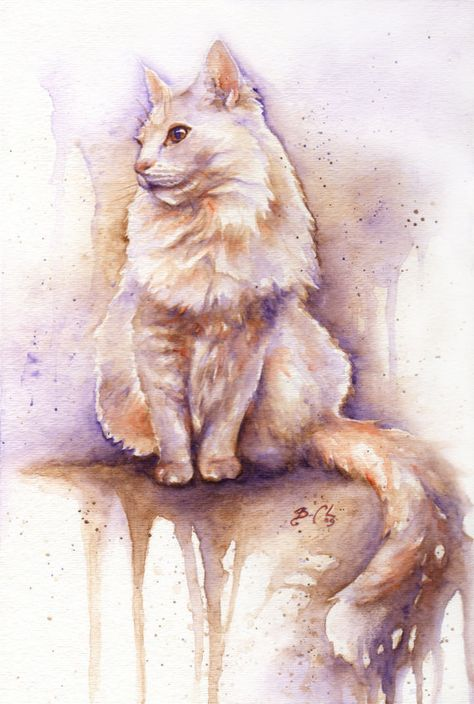 Set Of 2 9x12 Original Custom Watercolour Pet By Clockworkartshop