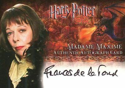 Harry Potter And The Goblet Of Fire Update Frances De La Tour Autograph Card La Tour Harry Potter Goblet Fire Movie